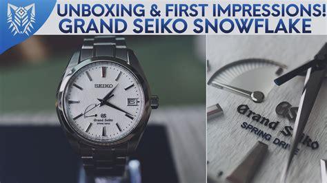 unboxing  impressions grand seiko snowflake