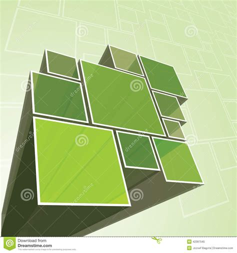 abstract transparent green prism background vector stock