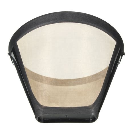 Swissgold coffee filter products are made with 23 karat gold plated materials, while gold tone products use a stainless steel filter mesh. Permanent Reusable #4 Cone Shape Coffee Filter Mesh Basket ...