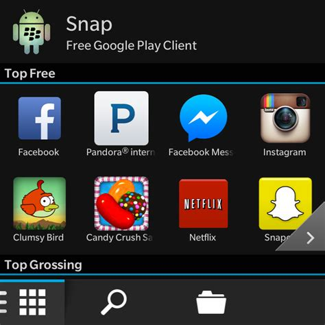 snap free play client for blackberry 10