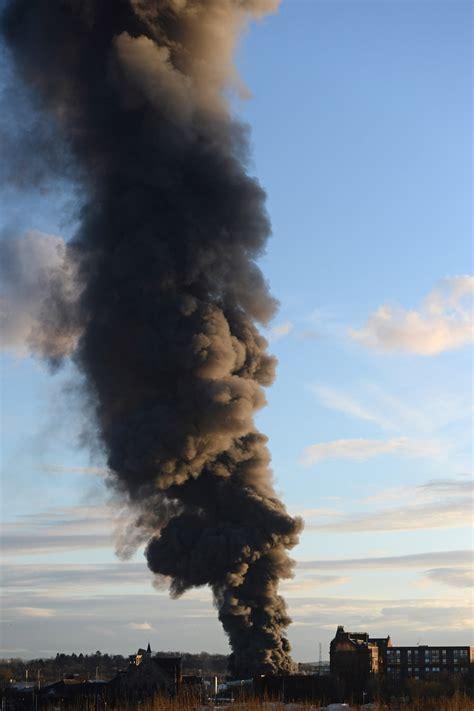 Scrap Yard Glasgow by Video Firefighters Tackle Scrapyard Blaze Near Ibrox