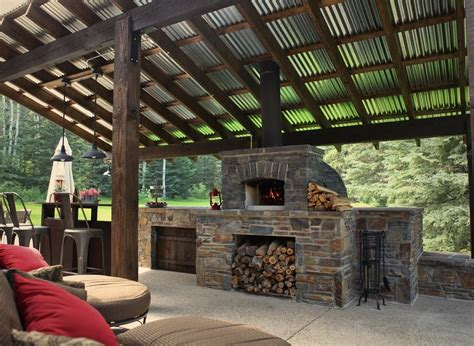 19+ Delightful Outdoor Patio With Pizza Oven