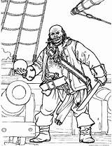 Pirate Coloring Difficult Pirates Strange Pages sketch template