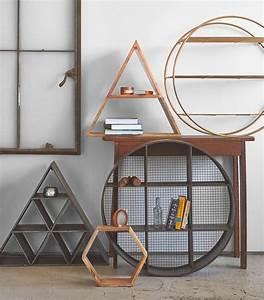 Etagere Murale Triangle : geo wall shelf designs ~ Teatrodelosmanantiales.com Idées de Décoration