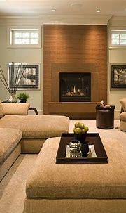 Salon avec cheminée, créant des environnements élégants ...