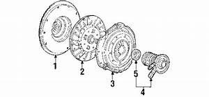 Ford 9l5z7a508a Genuine Oem Slave Cylinder