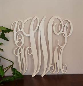family wooden monogram unpainted blended by With family wooden wall letters