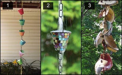 diy rain chain  design ideas