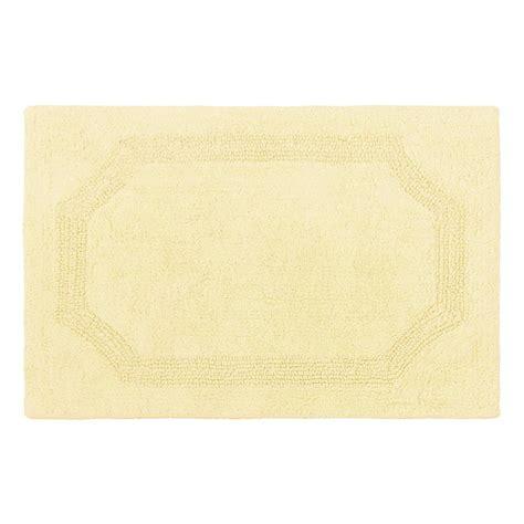 yellow bathroom rugs reversible yellow cotton 2 bath mat set 1207