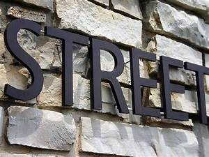 1000 images about subdivision signage on pinterest With steel letters for signs