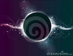 Glowing Circle Eclipse Light Effect Background Stock