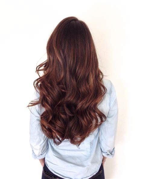 long healthy brunette  soft sombre warm brown