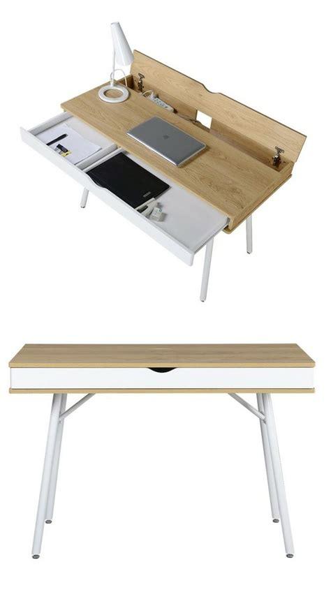 bureau avec tiroir table bureau moderne esprit nordique avec tiroir rangement