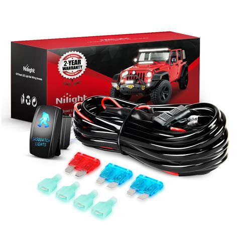 nilight ni wa 07 led light bar wiring harness kit
