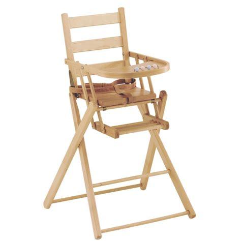 chaise haute bébé pliante chaise haute pliante dossier lattes galbées combelle
