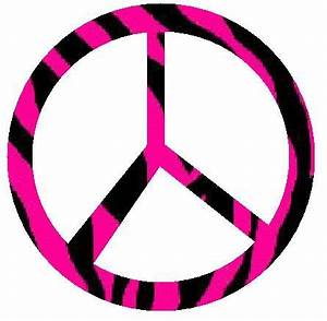 pink zebra peace signs graphics and comments - ClipArt ...