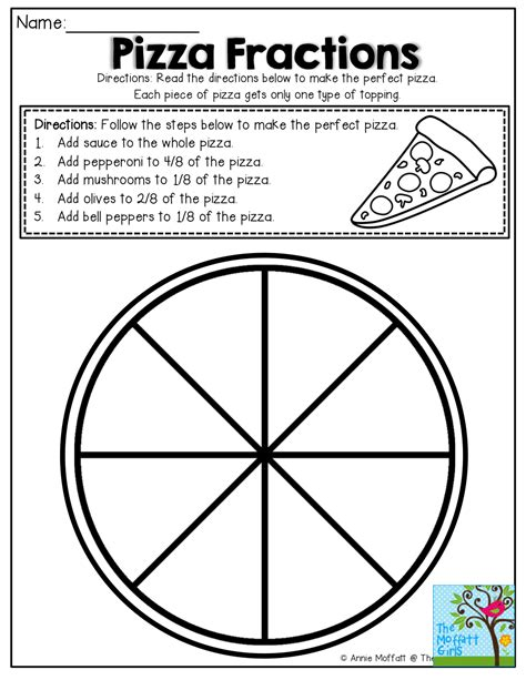 simple fractions no prep packet pizzas math and math