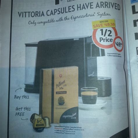 Vittoria coffee pods can offer you many choices to save money thanks to 19 active results. Espressotoria Capino Espresso Machine at Coles for $49.50 ...
