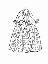 Coloring Pages Dress Barbie Doll Clothes Dresses Gown Ball Christmas Drawing Coloringsky Getdrawings Printable Carol Getcolorings Whitesbelfast sketch template