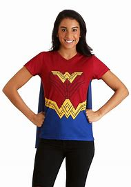 Wonder Woman Cape Costume T-Shirt for Wom…