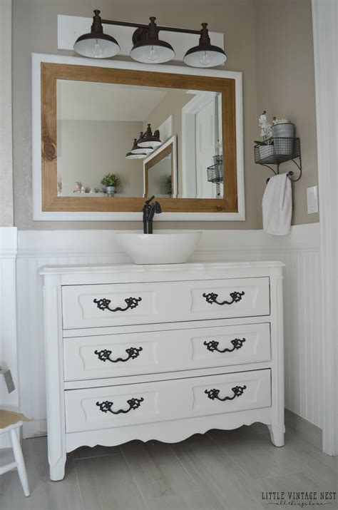 farmhouse style vanity lights farmhouse master bathroom reveal little vintage nest