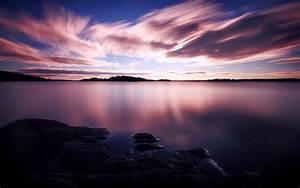 Purple, Sunset, Wallpaper, Nature