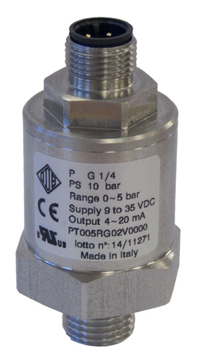 ul csa recognized listed pressure transducer pt series