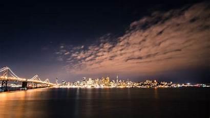 Francisco San 4k Giants Skyline Wallpapers Night