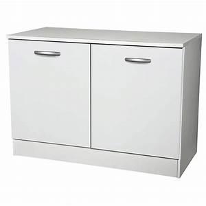 Meuble De Cuisine Blanc Laqué : meuble de cuisine bas 2 portes blanc h86x l120x p60cm leroy merlin ~ Teatrodelosmanantiales.com Idées de Décoration