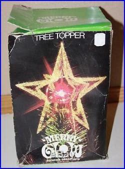merry glow rotating christmas tree topper vtg merry glow rotating tree topper sputnik space age tech bursts