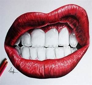 Not mine- awesome drawing of lips | Honey, you're art ...