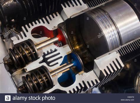Piston Engine Cross-section Stock Photo