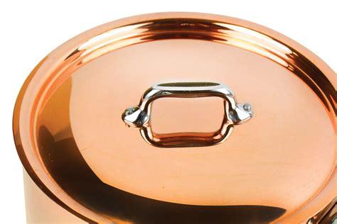 mauviel mheritage  copper saucepan  quart cutlery