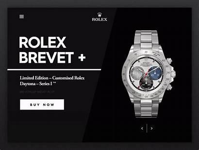 Rolex Switch Menu Clock Dribbble