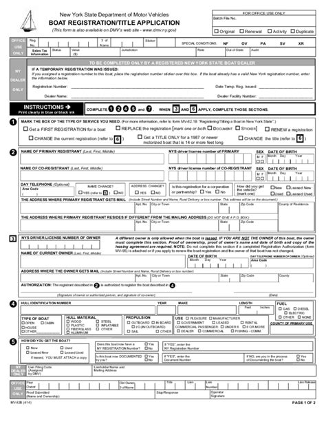 Boat Registration Numbers Ny by Boat Registration Title Application Nyc Free Download