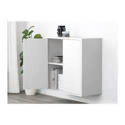 eket cabinet w 2 doors and 2 shelves white 70x25x70 cm ikea