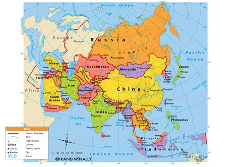 map  asia political map pictures