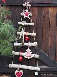 Weihnachtsdeko Draußen Basteln : weihnachtsdeko tannenbaum leiter birke ein ~ A.2002-acura-tl-radio.info Haus und Dekorationen