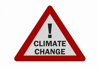 Climate Change Sign Realistic Isolated Clipart Illustration