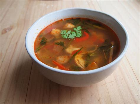 love thai recipes spicy sour soup  chicken tom yum