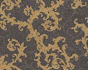 Tapete Barock Gold : tapete vlies barock anthrazit gold as creation versace 96231 6 ~ Orissabook.com Haus und Dekorationen