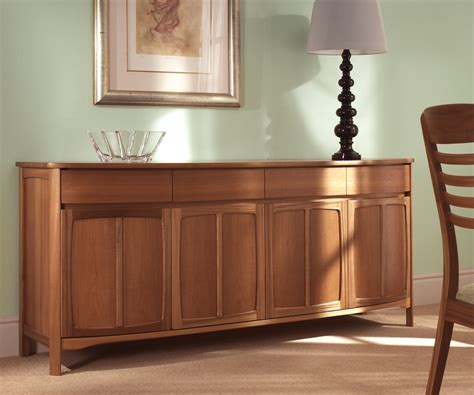 Nathan Sideboard by Nathan Shades Teak 1804 Shaped 4 Door Sideboard