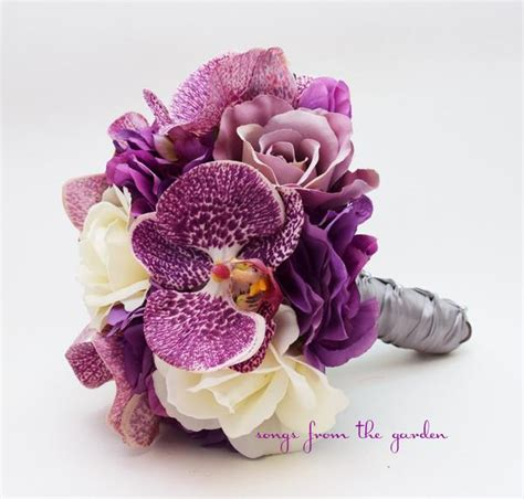orchids roses hydrangea bridesmaid bouquets wedding