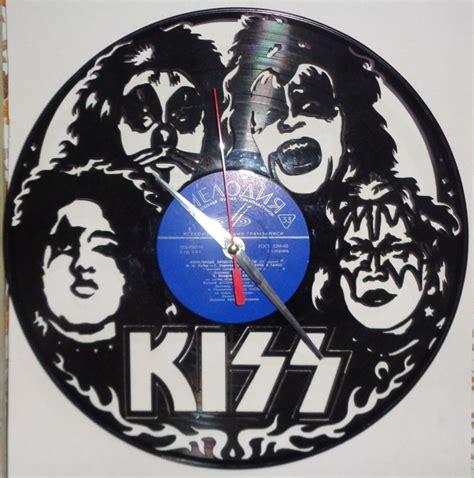 vinyl record wall clock kiss dxf file   axisco