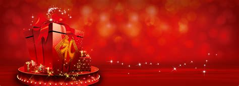 red christmas gift background red gift christmas