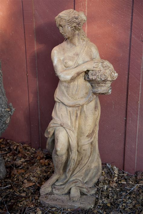 antique maiden statue   eclectibull