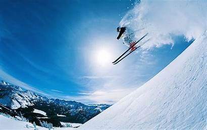 Skiing Ski Powder Snow Winter Holiday Wallpapers