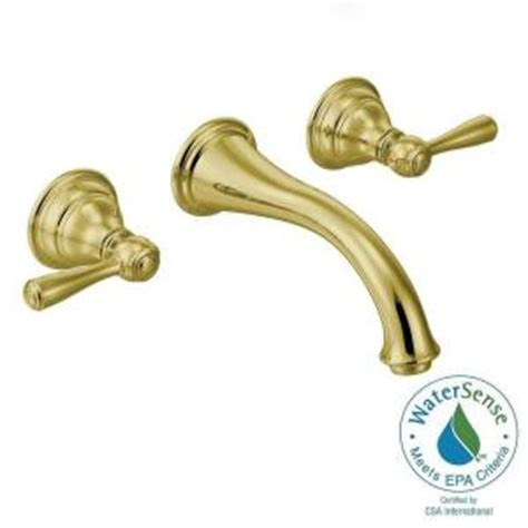 Moen Kingsley Wall Mount Bathroom Faucet by Moen Kingsley Wall Mount 2 Handle Low Arc Bathroom
