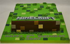 Square Minecraft Cake - Boys Birthday Cakes - Celebration