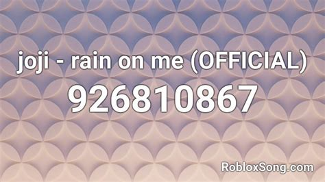 joji - rain on me (OFFICIAL) Roblox ID - Roblox music codes